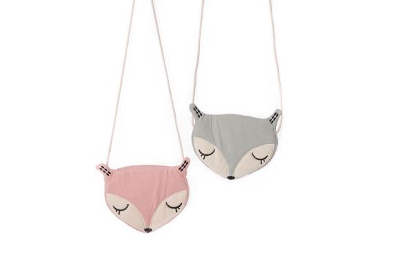 vossen tas voor kinderen inde kleur roze