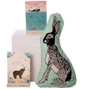 pimpelmees houten bord met nostalgische print kinderkamer accessoires