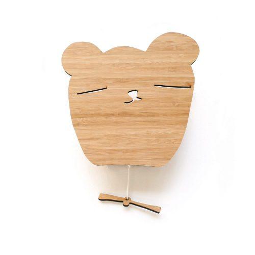 muziekdoos van bamboo in de vorm van een beer