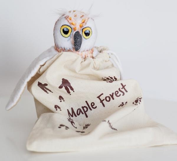 uil knuffel maple forest super zacht en van eco vriendelijke stof gemaakt
