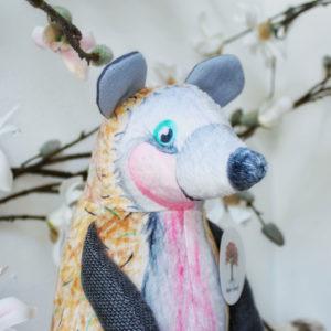 egel knuffel van malple forest eco vriendelijk materiaal en super zacht hand gemaakt
