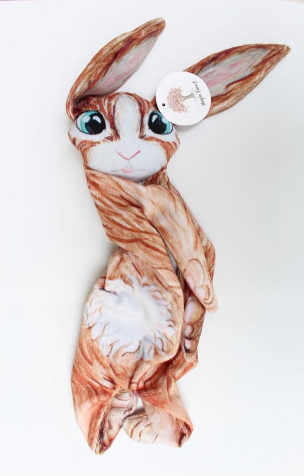maple forest konijn knuffel milieu vriendelijk met de hand gemaakt aquarel tekening super zacht