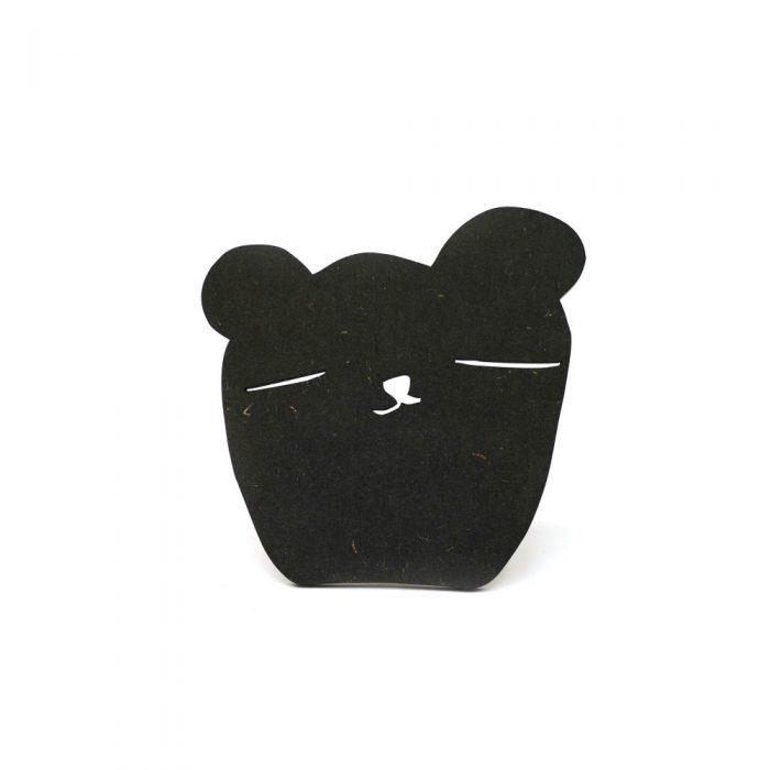 wandhaakje bear black tedandtone kinderkamer accessoires wanddecoratie