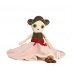 Muziekdoosje Anna Ballerina Merk: Esthex Materiaal: katoen en velours Anna speelt het slaapliedje Schubert's Lullaby Afmeting: 15x45cm de rok is 40cm als Anna zwiert. Anna kan in de wasmachine op lage temperatuur, niet in de droger