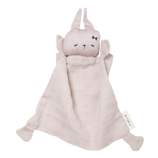 Cute bunny fabelab knuffel konijn van het merk fabelab gemaakt van 100% katoen zacht roze konijntje van fabelab