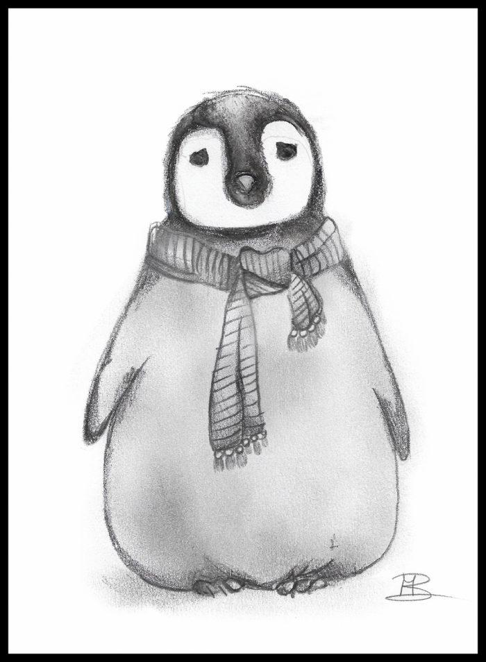 kaartje Pinguin vzan popp3kaartjes