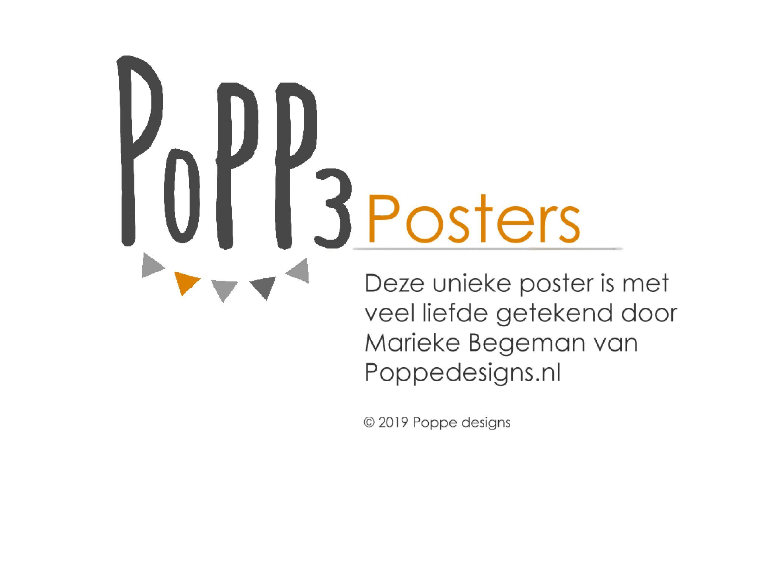 poster forest friend getekend door Marieke Begeman