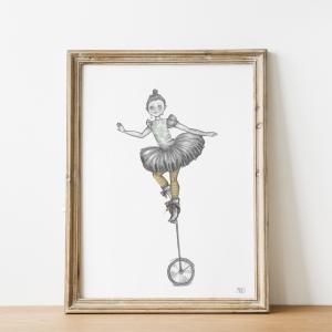 poster met acrobaatje