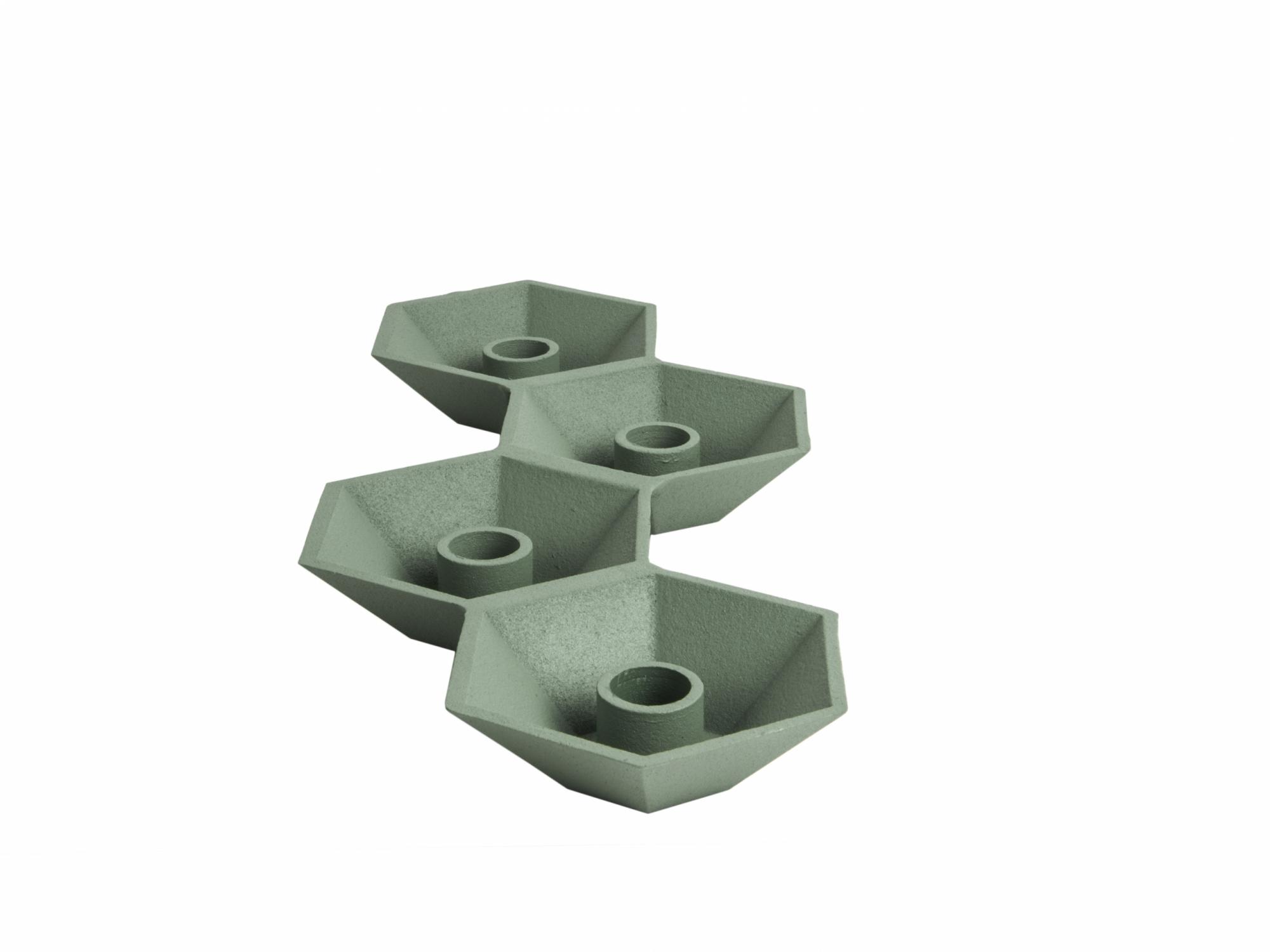 kandelaar sand coated met plek voor 4 kaarsen