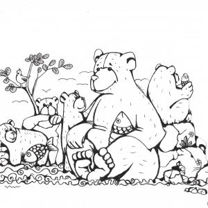 Gratis kleurplaat beren