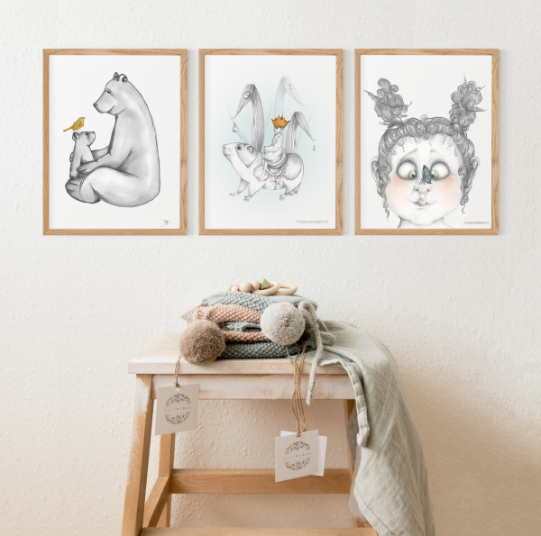 posters butterfly , little cub, koning willem