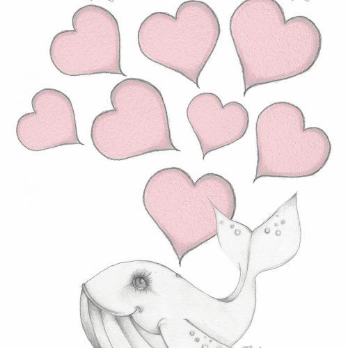 tekening van een walvis en een kleintje