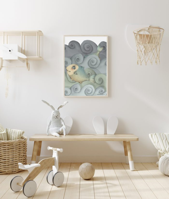 kinderkamer poster fish